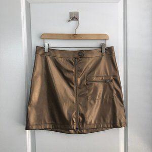 NWT Bronze Mini Skirt